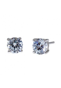 Kelvin Gems Premium 4 Prong Solitaire Stud Earrings with SWAROVSKI Zirconia