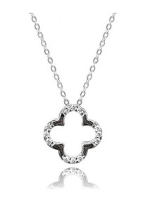 Kelvin Gems Premium Flower Pendant Necklace with SWAROVSKI Zirconia