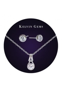 Kelvin Gems Premium Forever Gift Set with SWAROVSKI Zirconia
