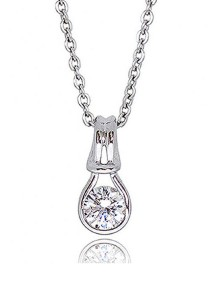 Kelvin Gems Premium Forever Pendant Necklace with SWAROVKSI Zirconia