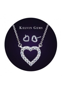 Kelvin Gems Premium My Heart Gift Set with SWAROVSKI Zirconia