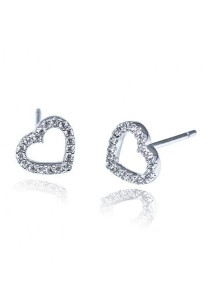 Kelvin Gems Premium My Heart Stud Earrings with SWAROVSKI Zirconia