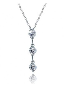 Kelvin Gems Premium Past Present Future Pendant Necklace with SWAROVSKI Zirconia