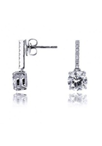 Kelvin Gems Premium Pettie Drop Earrings with SWAROVSKI Zirconia