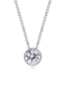 Kelvin Gems Premium RD Wrap Around SWAROVSKI Zirconia Pendant Necklace