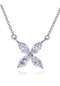 Kelvin Gems Premium Victorian Pendant Necklace with SWAROVSKI Zirconia