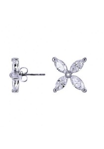 Kelvin Gems Premium Victorian Stud Earrings with SWAROVSKI Zirconia