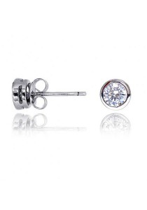 Kelvin Gems Premium Wrap Around Stud Earrings with SWAROVSKI Zirconia