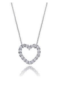 Kelvin Gems Samelia Heart Pendant Necklace with SWAROVSKI Zirconia