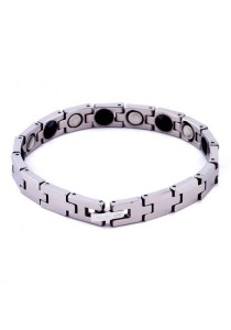 Kelvin Gems Sporteo Men's Healthcare Magnetic Bead Tungsten Bracelet