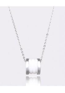 Kelvin Gems White Fleur Pendant Necklace