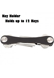 Key Smart Aluminium Key Holder Organizer (Black)
