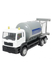 Affluent Town 1:64 Die-Cast Cement Truck White Color Collection Model New Gift