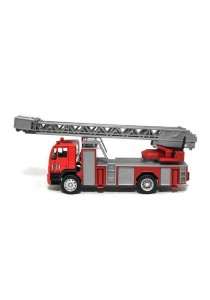 Affluent Town 1:64 Die-cast MAN Fire Ladder FD Emergency Truck Model Collection (RED)