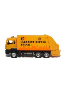 Affluent Town 1:64 Die-cast MAN Garbage Truck Model Collection (Orange)