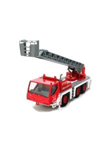 Affluent Town 7 Die-cast Large Fire and rescue Ladder Truck (Red)