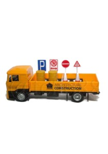 Affluent Town 1:64 Die-cast MAN Architecture Constructure Delivery Truck Vehicle (Yellow)