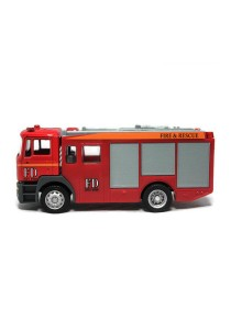 Affluent Town 1:64 Die-cast MAN Fire Truck Constructor Vehicle Rescue Model Collection (RED)