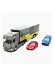 Affluent Town 1:64 Scale Die-cast Scania Large Car Container Truck (Green)
