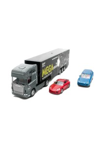 Affluent Town 1:64 Die-cast Scania Large Car Container Truck (Grey)