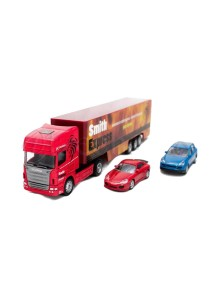 Affluent Town 1:64 Die-cast Scania Large Car Container Truck (Red)