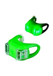Frog Type LED Silicone Bicycle Tail Light Rear Lamp Accessories (Green)