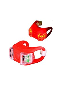 Frog Type LED Silicone Bicycle Tail Light Rear Lamp Accessories (Red)