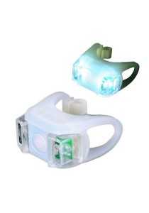 Frog Type LED Silicone Bicycle Tail Light Rear Lamp Accessories (White)