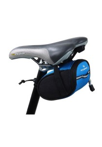 ROSWHEEL Bicycle Bike Tube Saddle Seat Pouch Bag Cycling (Blue)