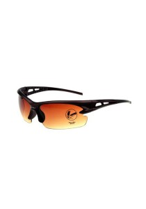 Sport Sun Glasses OULAIOU Eyewear HD Vision Anti Glare Bicycle (Orange)