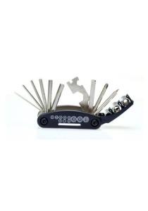 15 in-1 Travel Repair Tool Allen Key Multi Hex Wrench Screwdriver For Motorcycle Bike (Black)