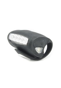 7 LED Silicone Bicycle Alert BIG Tail Light Rear Lamp Rear Front Back (Black)