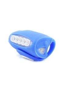 7 LED Silicone Bicycle Alert BIG Tail Light Rear Lamp Rear Front Back (Blue)