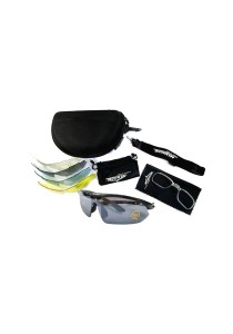 Sports 5 pcs Sun Glasses Eyewear HD Vision (Black)