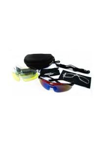 Sports 5 pcs Sun Glasses Eyewear HD Vision (Red)