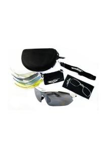 Sports 5 pcs Sun Glasses Eyewear HD Vision (White)