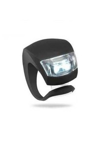 Frog Type LED Silicone Bicycle Tail Light / Rear Lamp (Black)