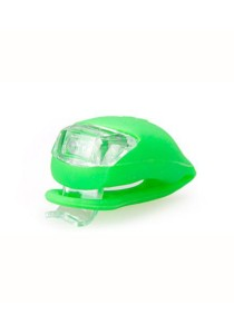 Frog Type LED Silicone Bicycle Tail Light / Rear Lamp (Green)