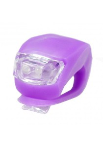 Frog Type LED Silicone Bicycle Tail Light / Rear Lamp (Purple)