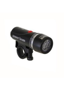 Power Beam Bicycle LED Super Bright Head Torch Light Lamp (Black)