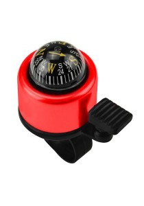 Metal Ring Handlebar Bell Sound Alarm Bicycle With Compass (Red)