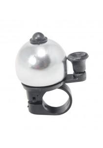 Metal Ring Handlebar Bell Sound Alarm Bicycle Round Shape (Silver)