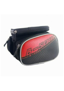 Bicycle Mountain Bike MTB Touch Screen Pouch B-SOUL Frame Bag Road Bike RB (Red)