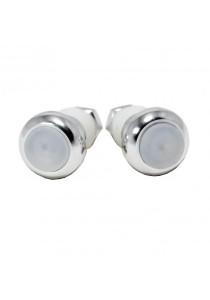 Handlebar Plugs Lights LED Alert Safe Bicycle Lamp 1 Pair (Silver)