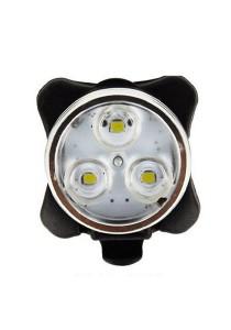 USB Charging Super Bright Bicycle LED Alert Safe Lamp (White)