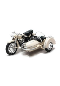 Home Toys 1:18 Die-cast Side Car M558 Motorcycle Model Collection (White)