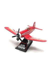 Home Toys 4 Die-cast Air Show Fighter Aircraft Plane Aeroplane Model Force (Red)