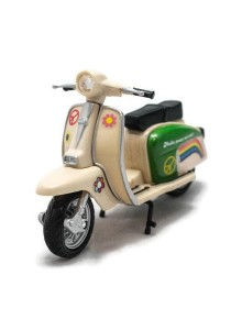 Home Toys Motor Scooter 4.5 Die-cast Flower Motorcycle Ride Model Collection (Milk White)
