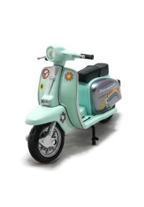 Home Toys Motor Scooter 4.5 Die-cast Flower Motorcycle Ride Model Collection (Mint Blue)