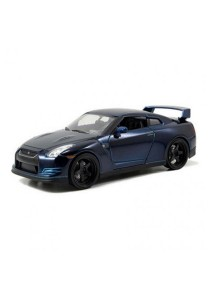 Jada Fast & Furious 1:24 Brian's Nissan GT-R (R35) Car Model Collection (Blue)